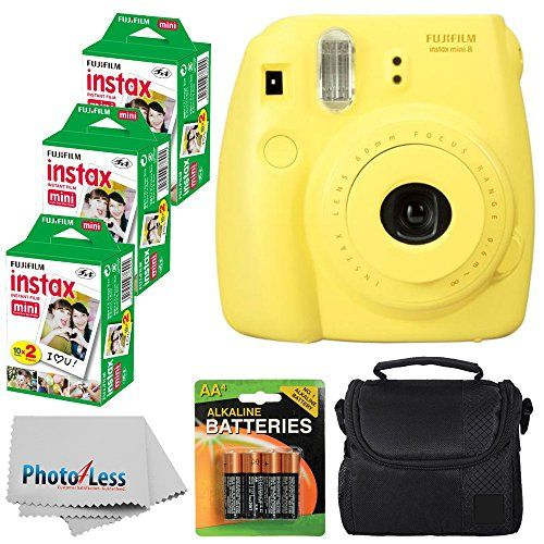 Fujifilm Instax Mini 8 Instant Film Camera Yellow With Fujifilm