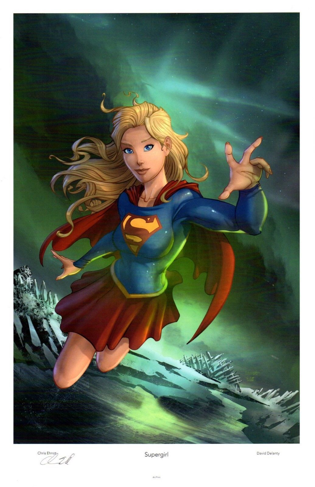 Supergirl Kara Art Print Signed By Artist Chris Ehnot