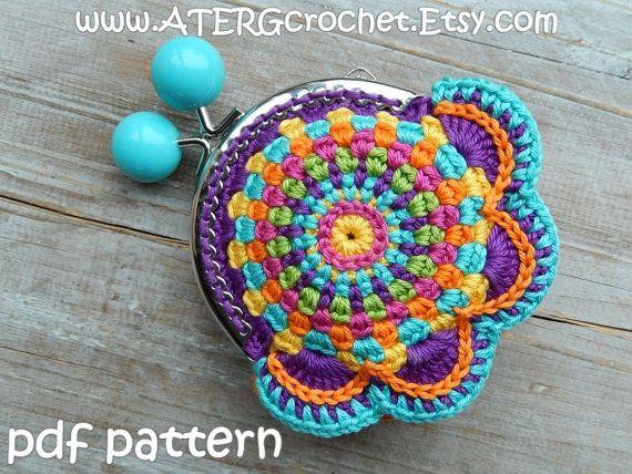 Crochet pattern PURSE by ATERGcrochet | Pinterest | Monederos ...