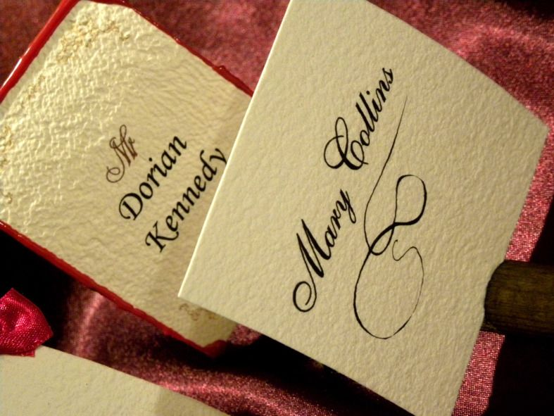 name cards as a great complements to out wedding