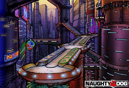 Crash Bandicoot Warped Environments Naughty Dog Web Site