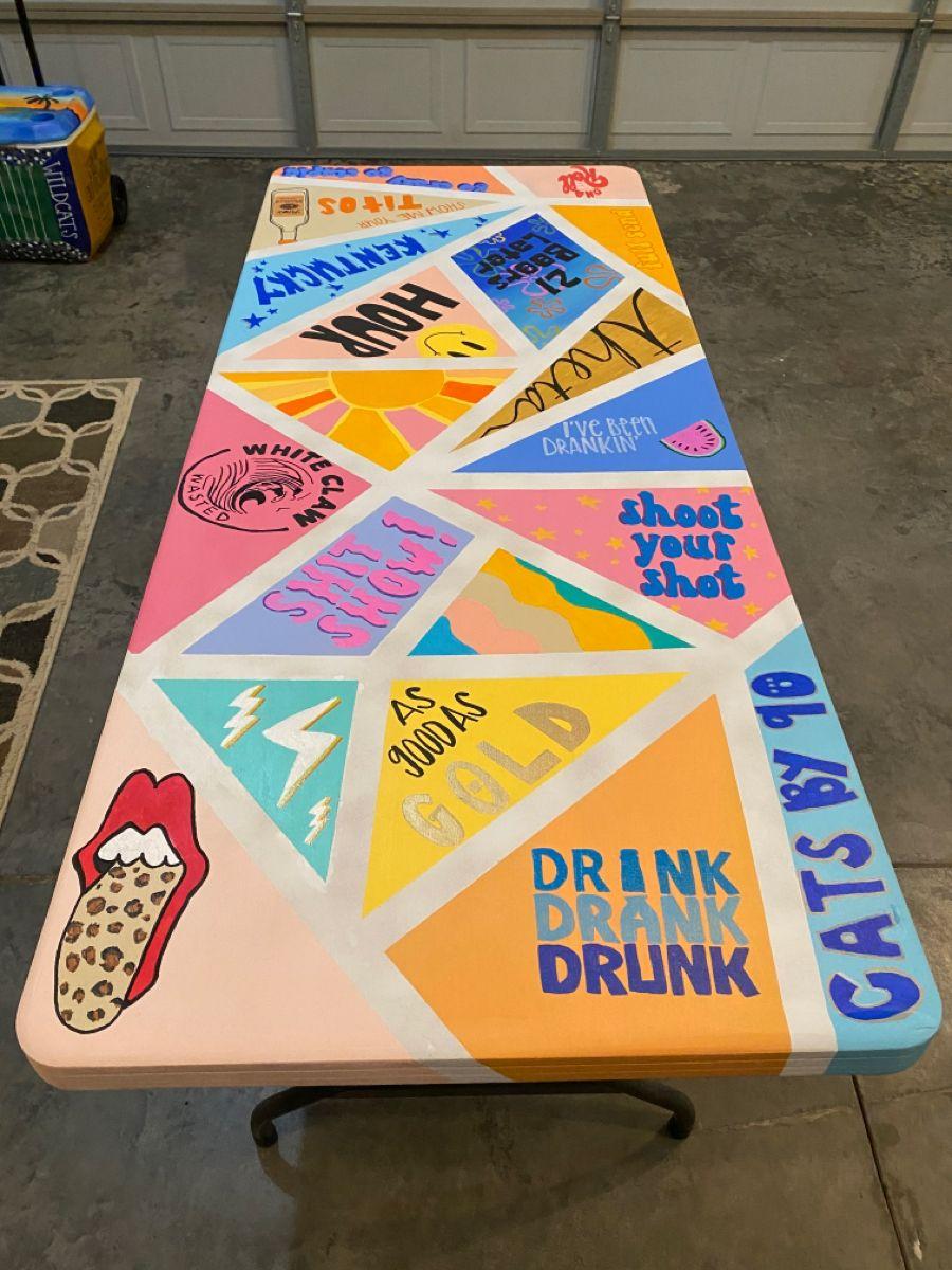Painted Beer Pong Table Beer Pong Table Painted Diy Beer Pong Table Beer Pong Table Designs