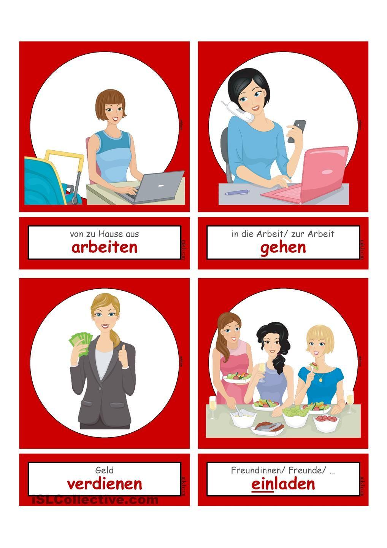 Tätigkeiten im Haushalt & Alltag 2 _ Flashcards klein | bildlexikon ...