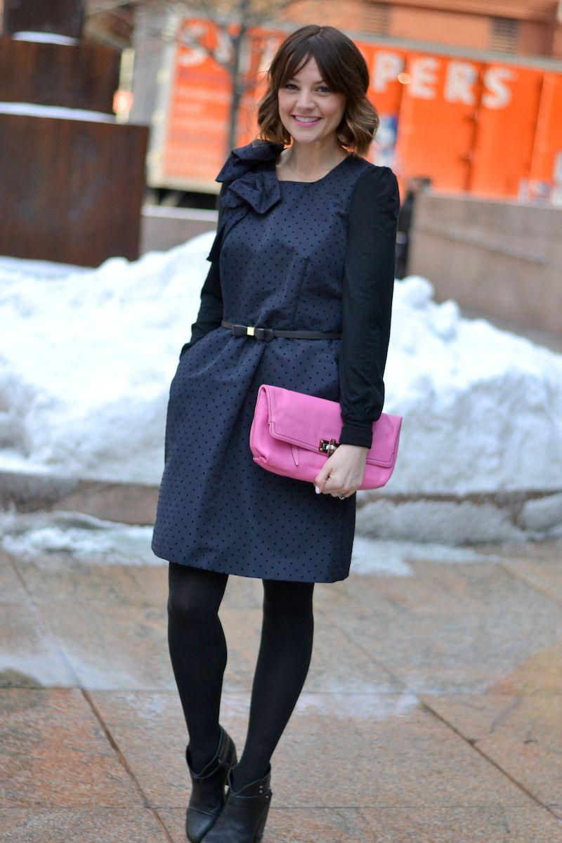 RED VALENTINO SWISS DOT DRESS (2)
