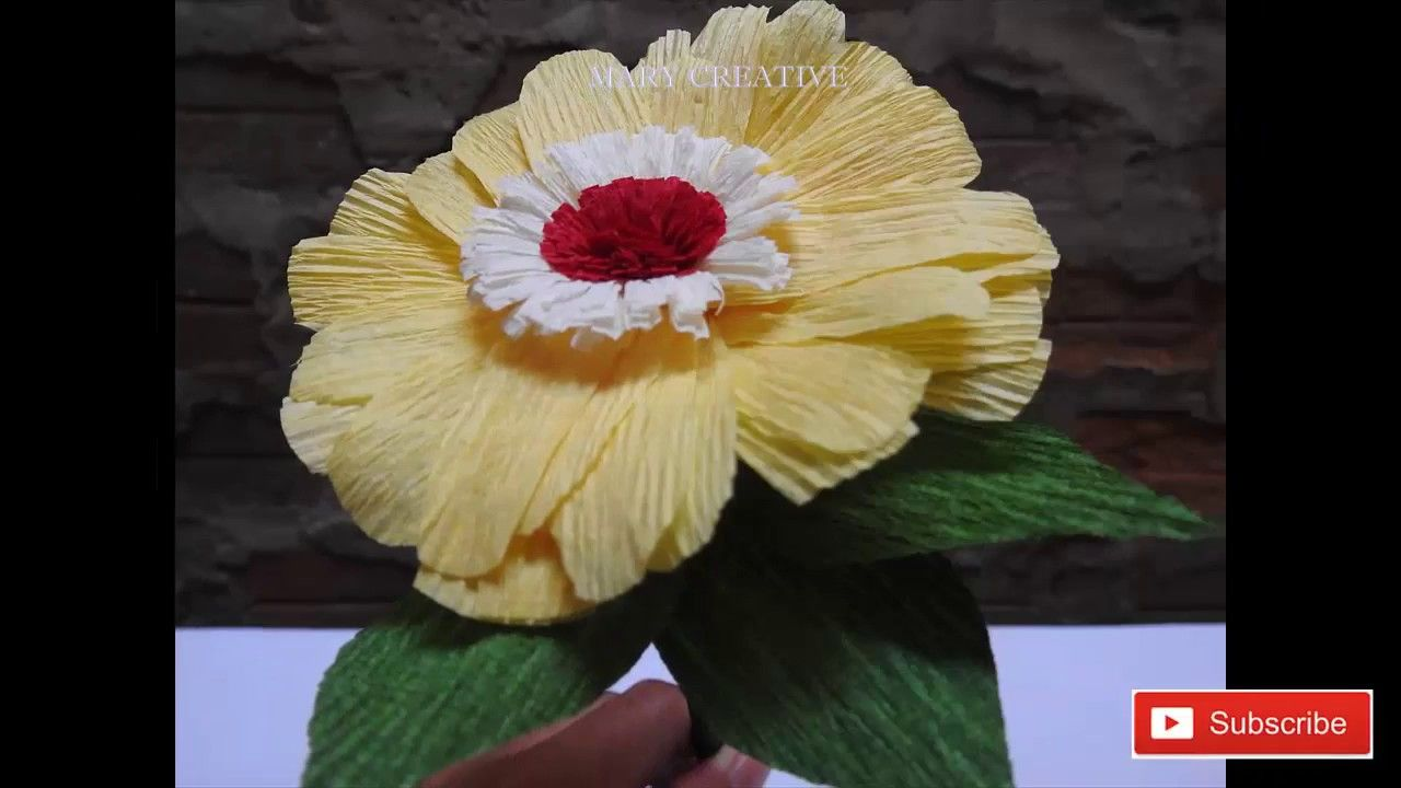 How To Make Paper Daisy Flower Paper Flowers Gerbera Daisy