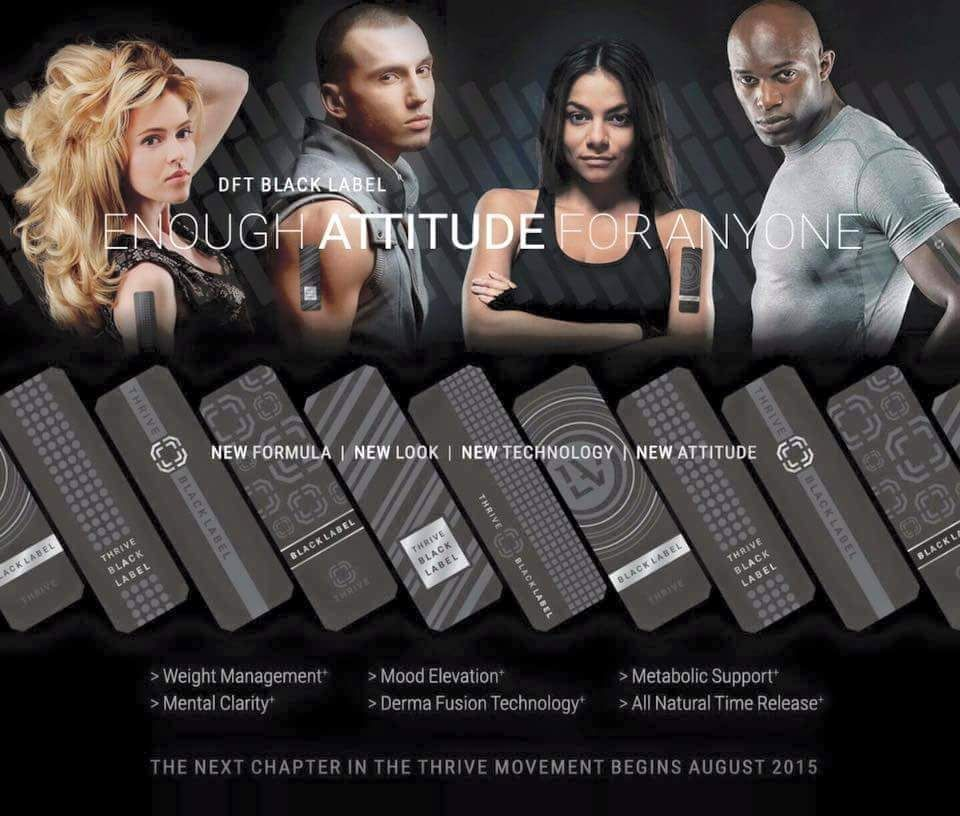 The Next Chapter in the THRIVE Movement Begins August 2015 DFT Black Label!  I am so excited and can't wait to experience it!! Www.leereding.le-vel.com