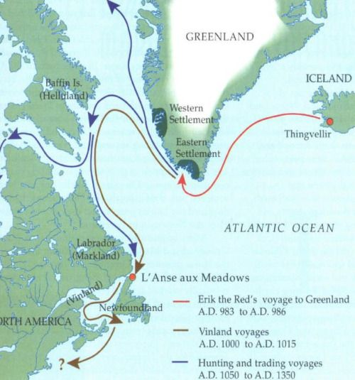 - Viking settlements in North America.                                                                                                                                                     More