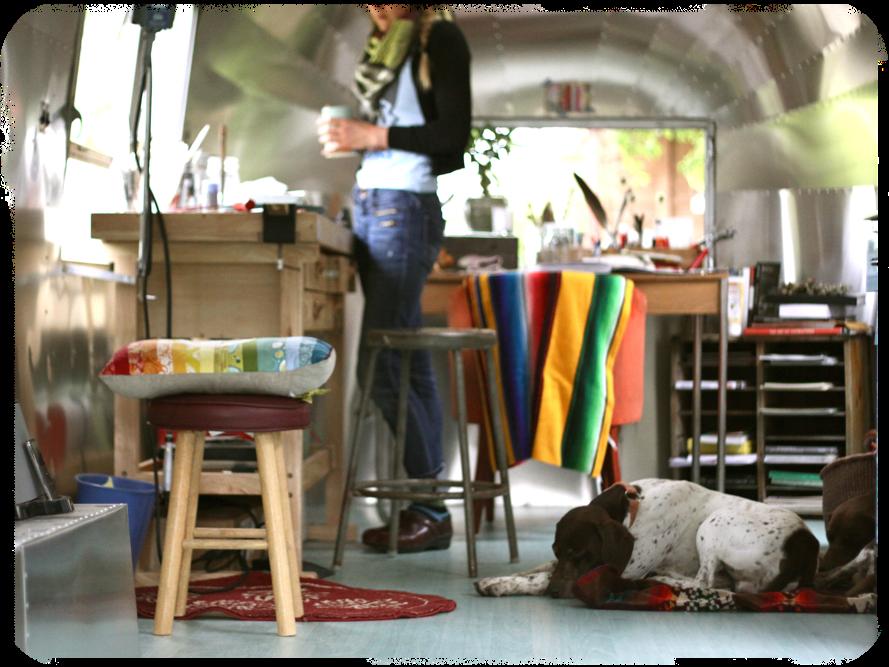 Airstream Trailer Renovated Into An Artist Studio Tiny Studio Airstream Camper Art