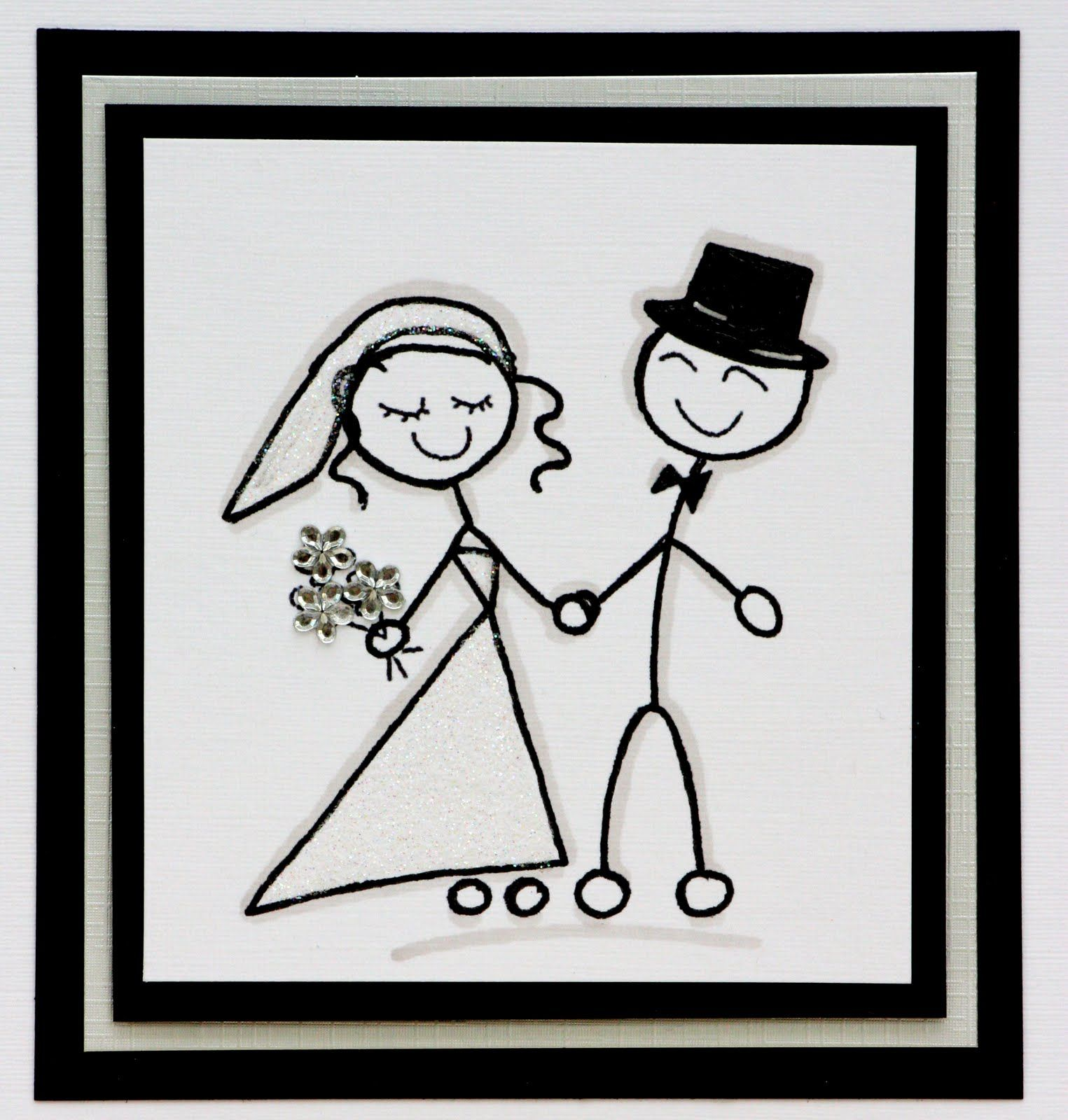 Stick Figure Bride And Groom - Google Search