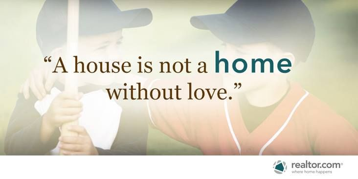 A House Is Not A Home Without Love Inspirational Quote With