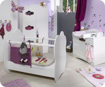 Chambre Bébé Complète Altéa Blanche | Armoires, Room and Lights