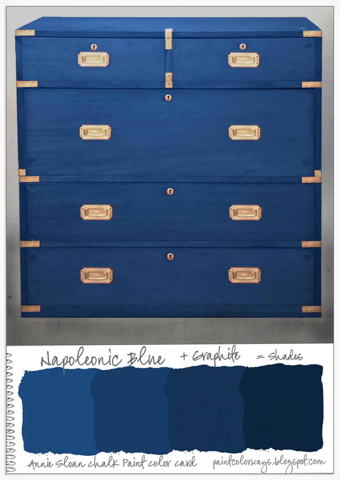 Colorways Annie Sloan Chalk Paint 174 Napoleonic Blue Shades