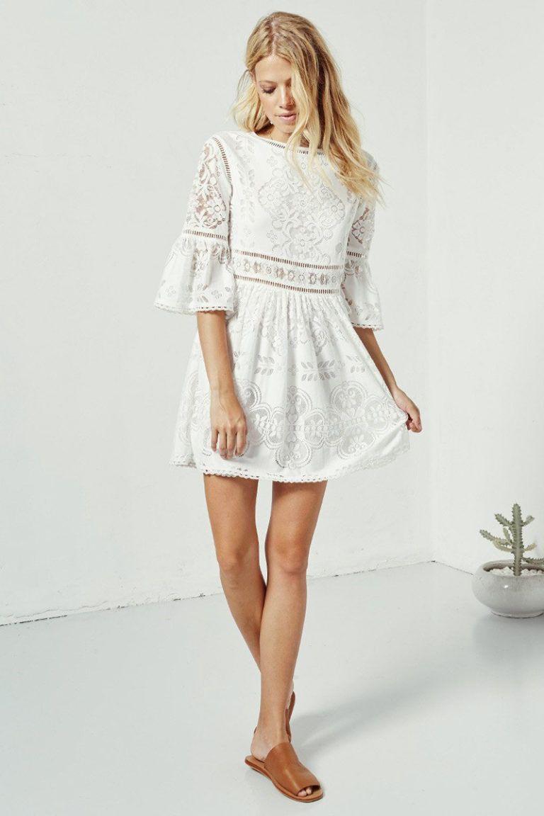20 Pretty Little White Dresses For All Your Pre Wedding Events In 2020 Mini Dress Little White Dresses White Mini Dress