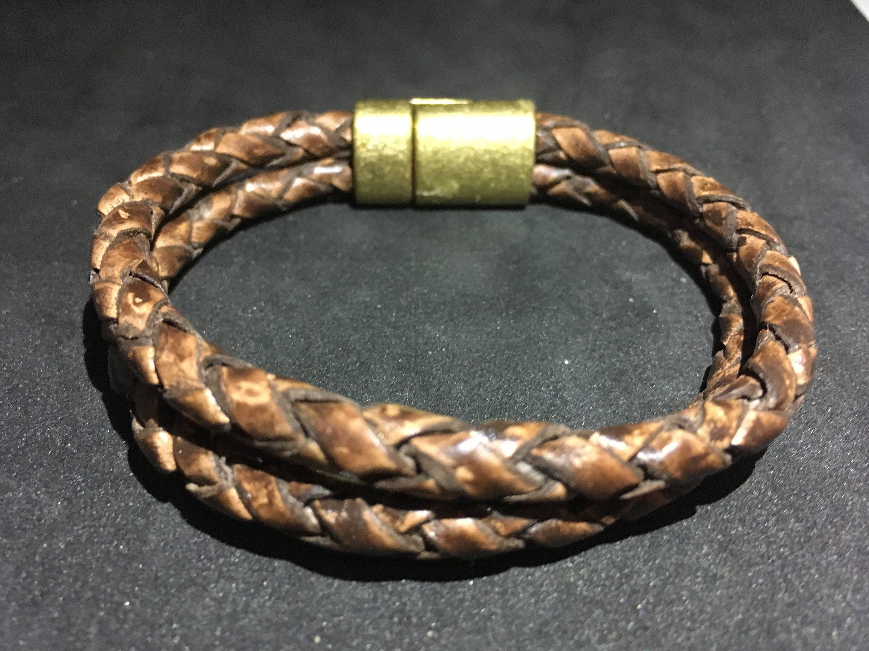 Mens leather bracelet braided leather boyfriend gift husband gift