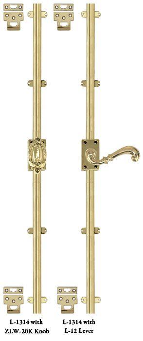 French Door Bolt Basic Cremone Door Security Bolt Single Door Set L 1314 French Doors Antique French Doors Vintage Hardware