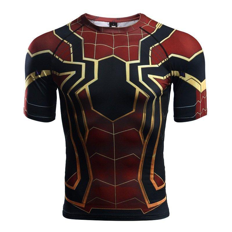 Iron Spider Man Men S Compression Shirt Spider Man T