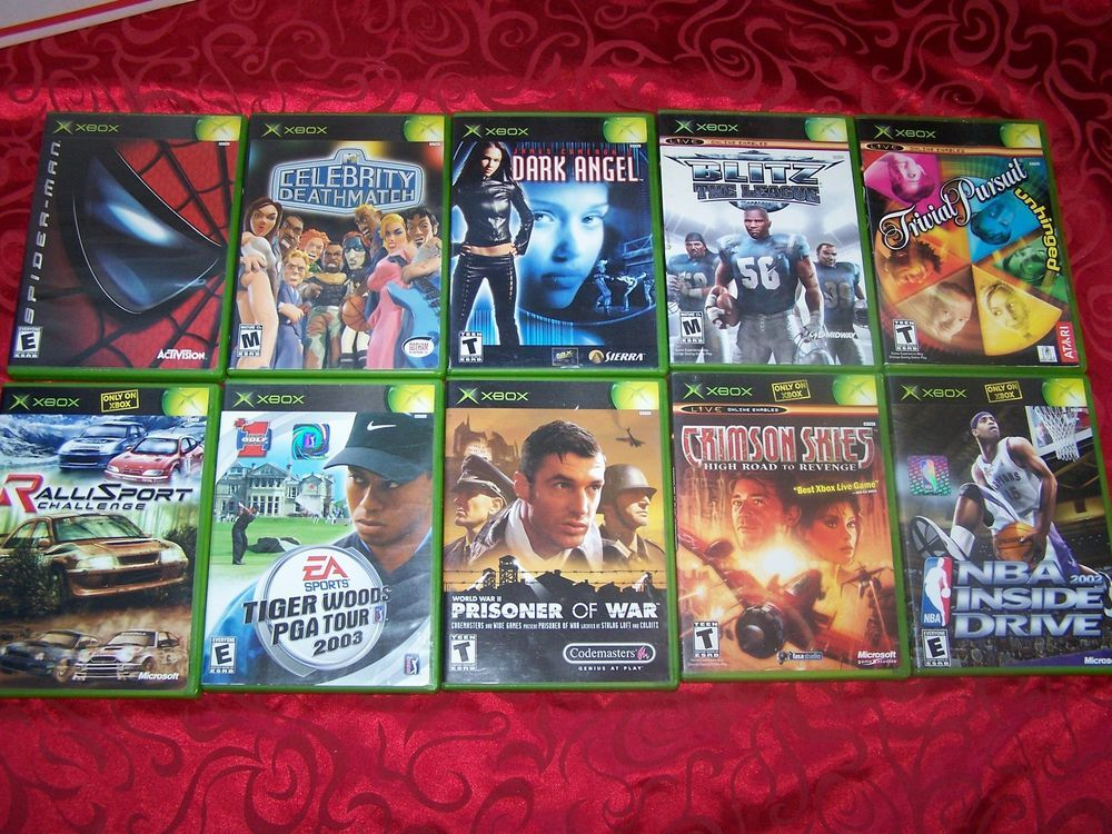 Original Xbox Game Ship : Original xbox games spider man celebrity deathmatch
