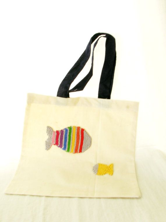 Cotton bag for kids by dentsdeloup on Etsy, $15,00