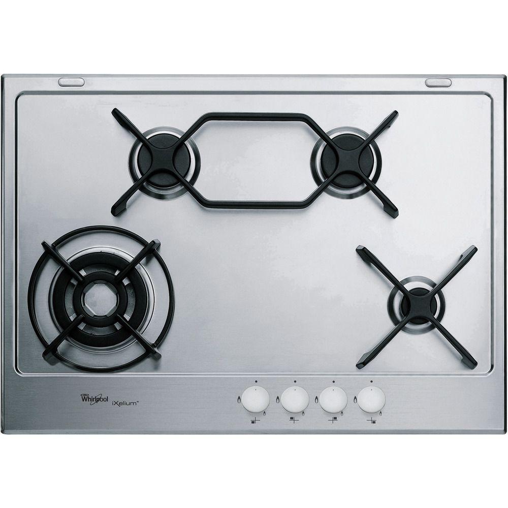 Piano cottura a gas Whirlpool: 4 fuochi - GMA 7444/IXL - Whirlpool ...