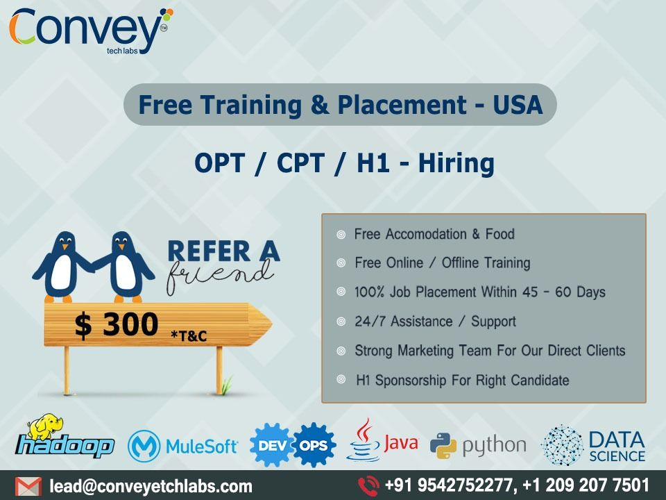 Free Training & Placement USA Data science