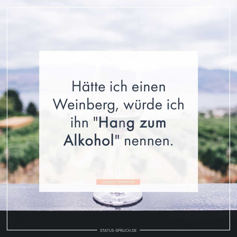 Hatte Ich Einen Weinberg Wurde Ich Ihn Hang Zum Alkohol Nennen Lustige Spruche Wein Zitate Lebensspruche