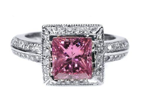 Pink diamonds is a whimsical hue that represents love and romance pink diamond ring junglespirit Images