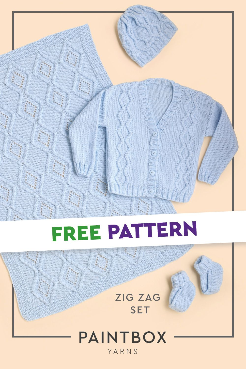Zig Zag Set in Paintbox Yarns Baby DK - Downloadable PDF ...