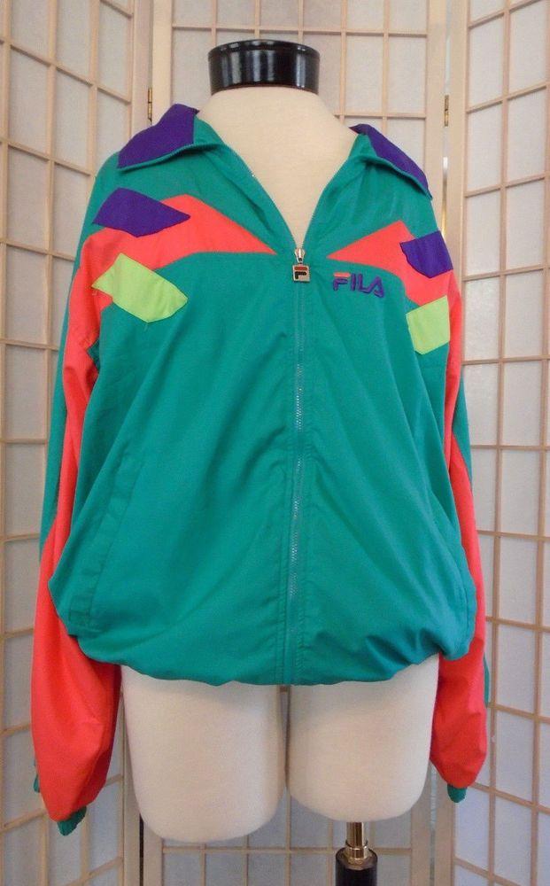 Vintage 90's Fila Neon Windbreaker