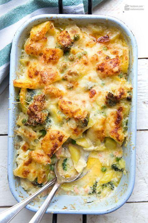 Kartoffel-Brokkoli-Auflauf mit Lachs #healthyshrimprecipes