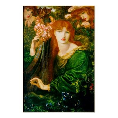 Photo of La Ghirlandata Poster by Dante Gabriel Rossetti | Zazzle.com