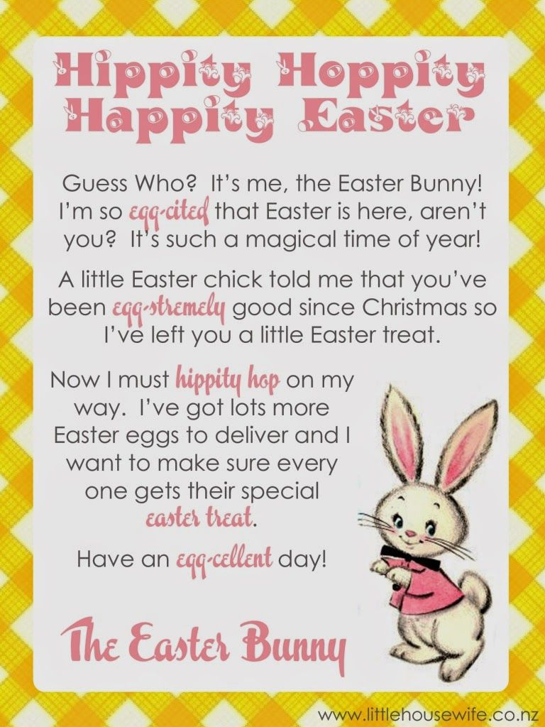 graphic regarding Letter From Easter Bunny Printable named Minor Housewife Totally free Easter Printable - Letter towards the