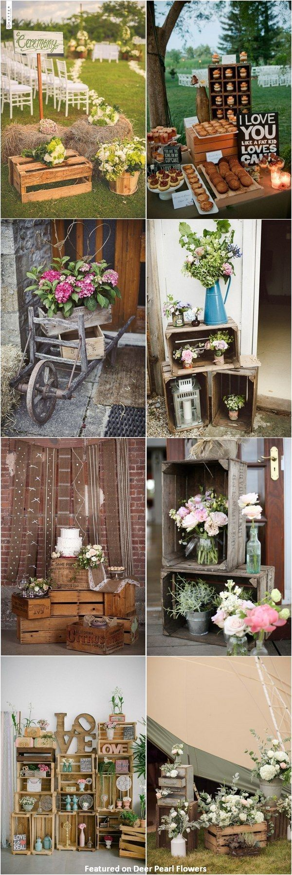 Wedding ideas rustic theme  rustic country wooden crate wedding decor ideas