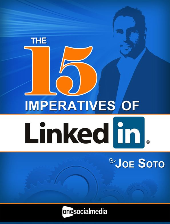 "FREE EBOOK - ""The 15 Imperatives of LinkedIn""    If you aren't getting referrals or leads from LinkedIn, you aren't using it correctly.    http://info.onesocialmedia.com/the-15-imperatives-of-linkedin/"