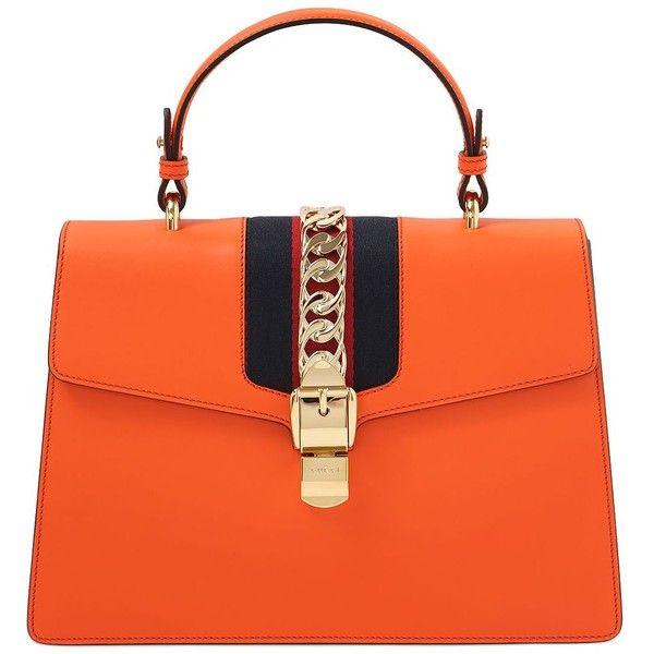 9059fdae8 Gucci Women Medium Sylvie Leather Top Handle Bag ($2,660) ❤ liked ...