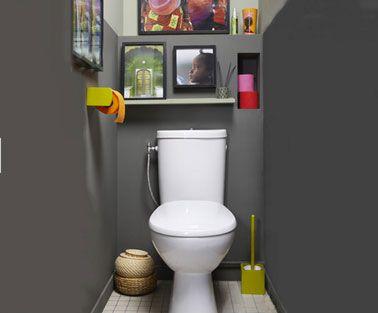 Couleur peinture WC gris anthracite papier toilette couleur vert