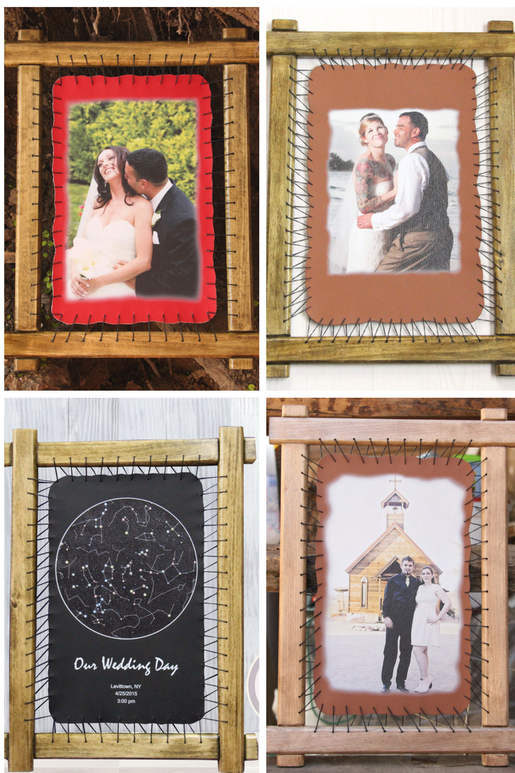 3rd Wedding Leather Gift Personalized Art Portrait Drawings On