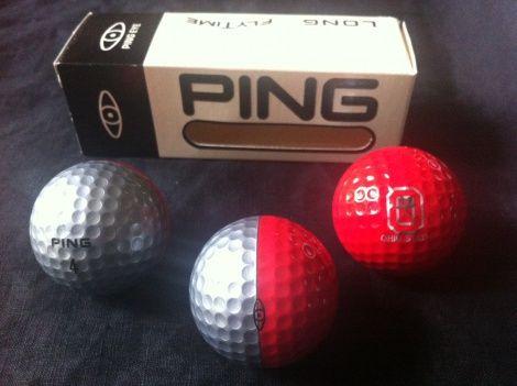 A Very Rare Set Of 3 Ping Eye Logo Golf Balls In Red And Silver Golf Fashion Golf Ball Golf Fashion Men