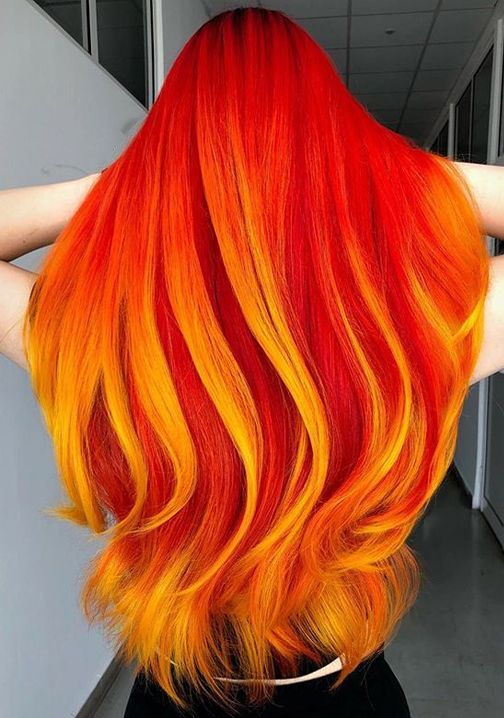 This Girl Is On Fire Red Hair Discoveries Hairminia Hair Styles Bold Hair Color Fire Hair