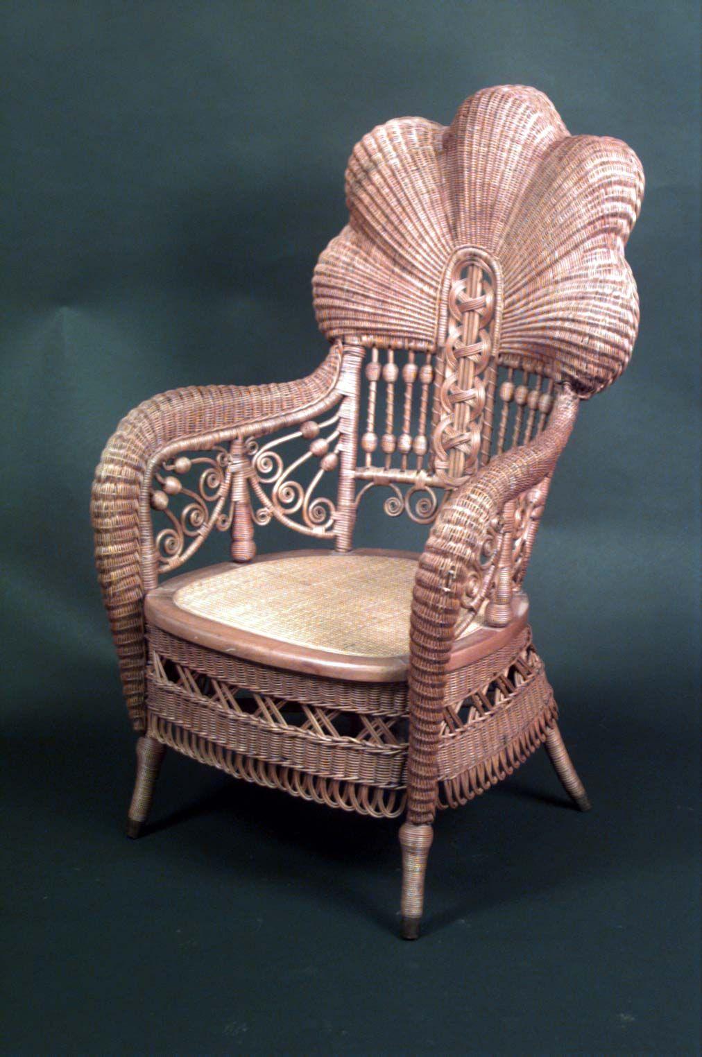 Wicker victorian seating chair arm chair natural - Viktorianische mobel ...