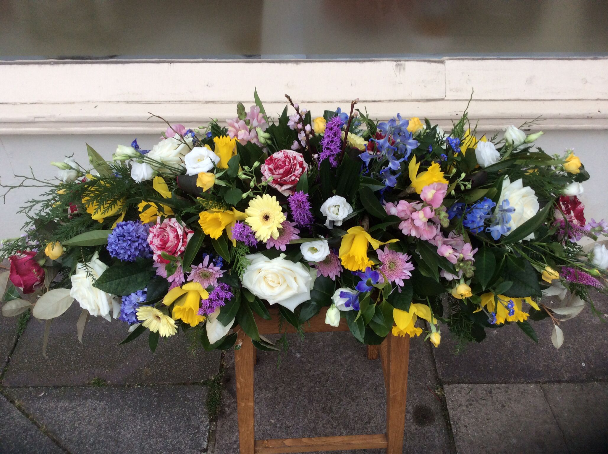 Double Ended Casket Spray Casket Sprays Pinterest Funeral Flowers