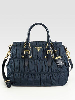 2f7a7c7c089a Prada Tessuto Gaufre Nylon Tote Bag in Denim