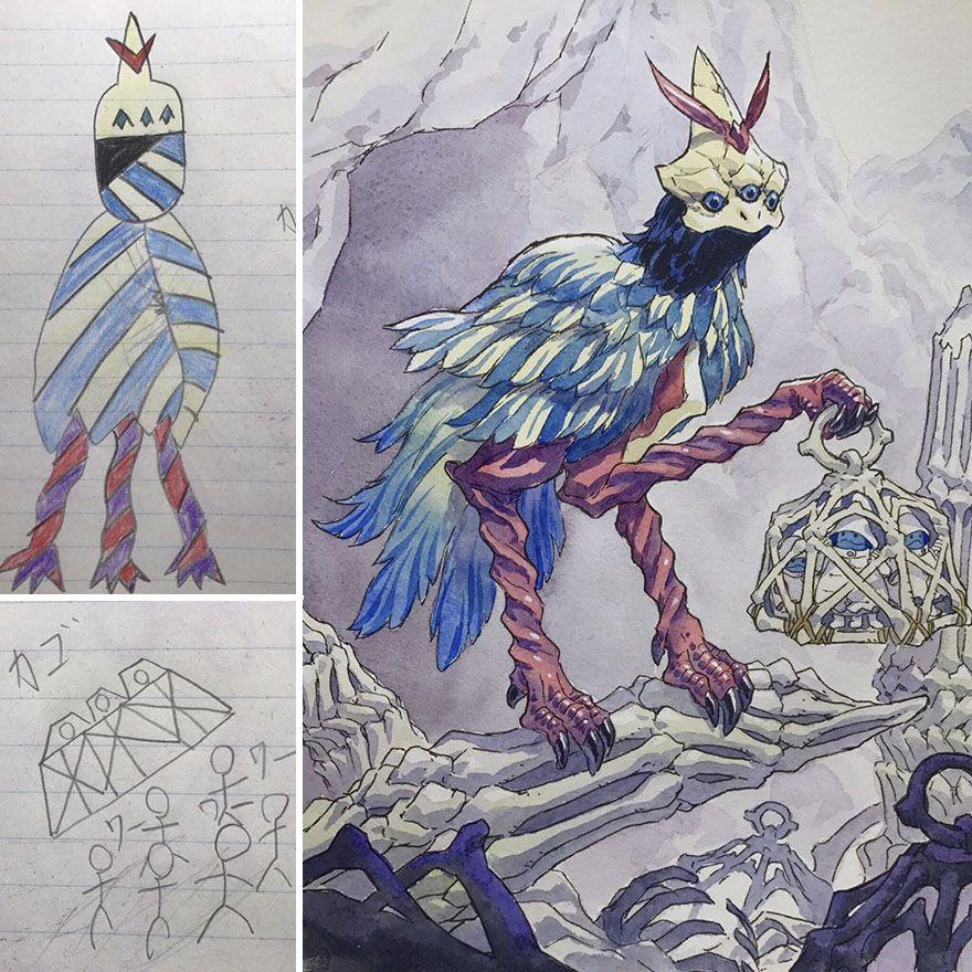 Sons Sketches To Anime Drawings Thomas Romain Thomas Romain