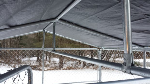 Winterproof Your Dog Kennel Dog Kennel Roof Diy Dog Kennel 10x10 Dog Kennel