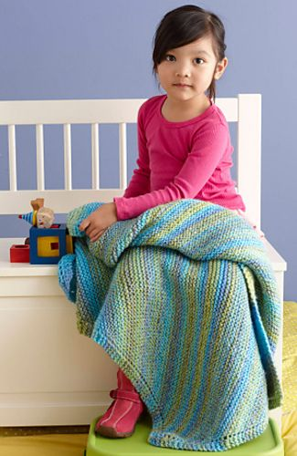 Ravelry: Soft, Easy Baby Throw pattern by Lion Brand Yarn