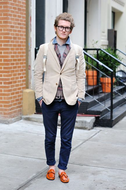 """""""mypantalones:  Noah on the streets. That pants/loafers combo absolutely killed.   """""""