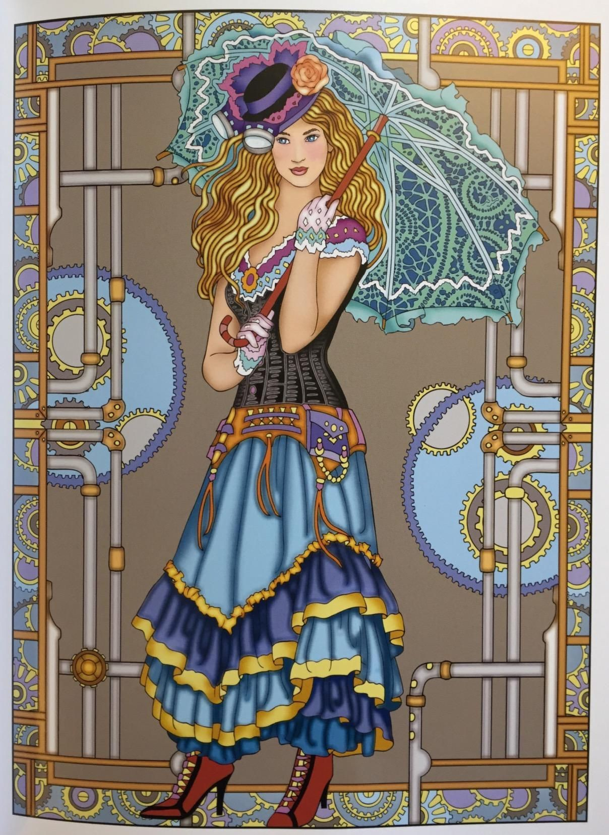 Amazon Creative Haven Steampunk Fashions Coloring Book Adult 0800759797486 Marty Noble Books