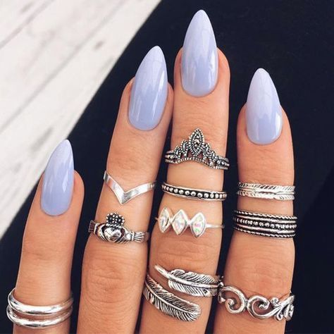 Almond Nails – 64 Best Almond Nails | Almond nails, Nail inspo and ...