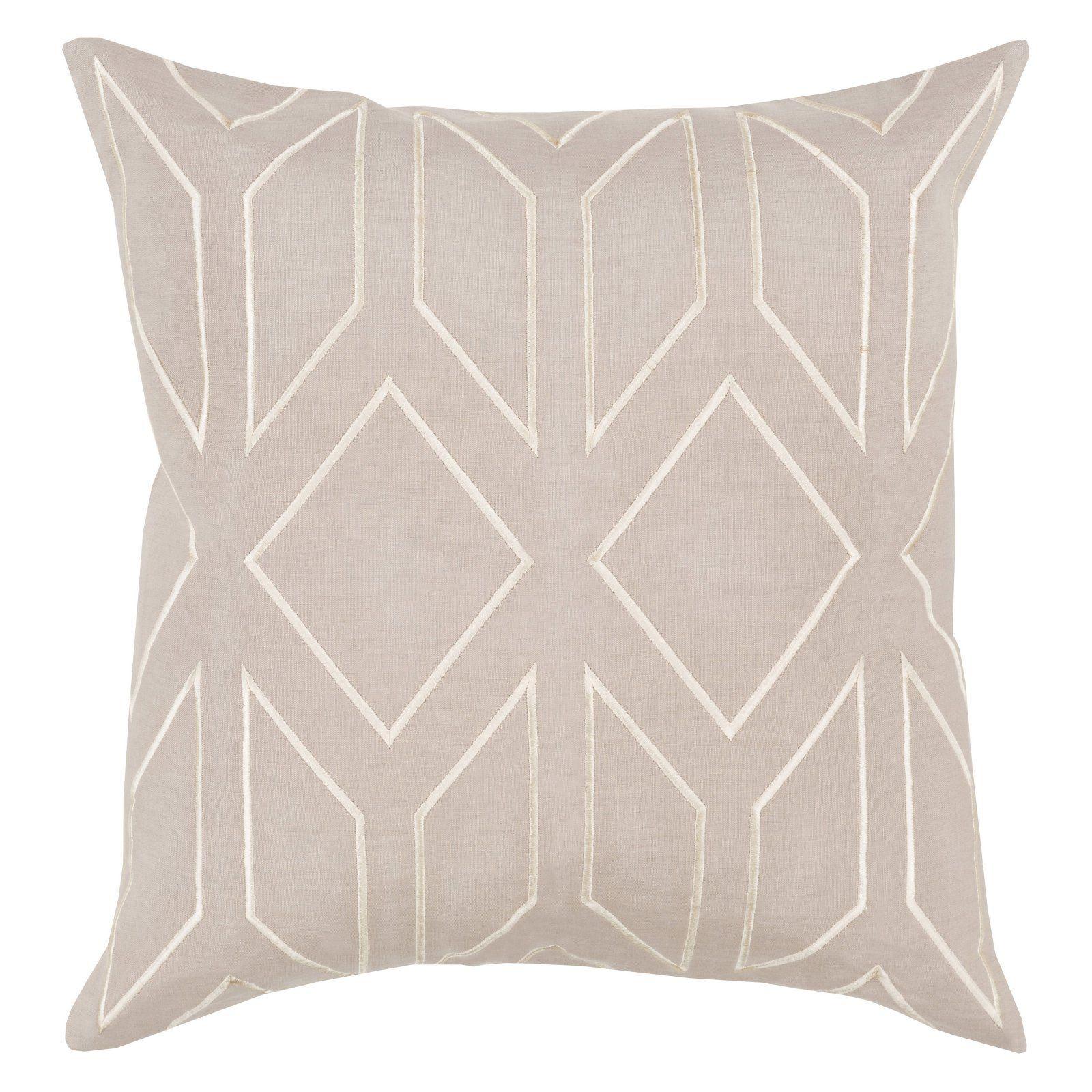 Surya Skyline Iv Decorative Throw Pillow Down Neutral Throw