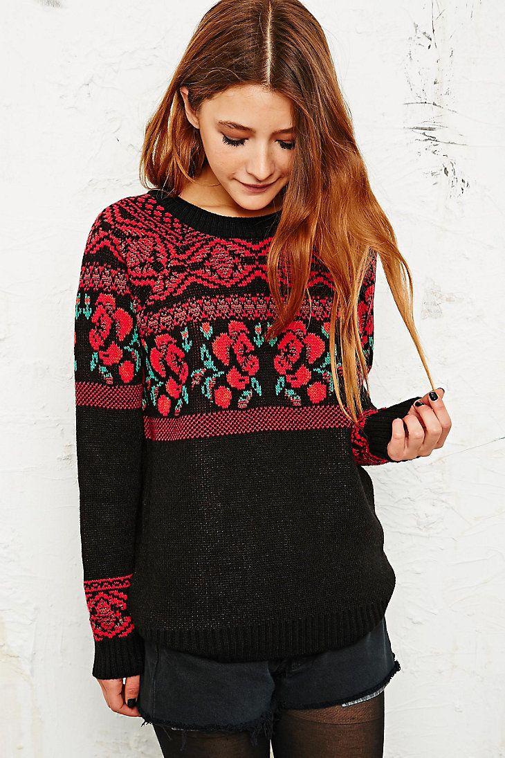 Staring at Stars Rosa Sweater in Black £45   Patronen Mode