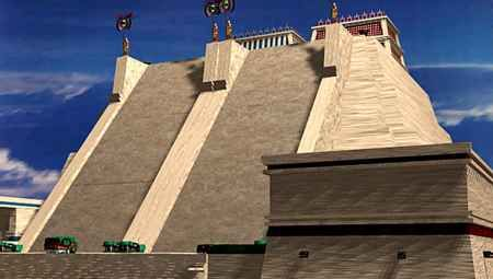 The Great Temple Of Tenochtitlan Aka Templo Mayor Lake Texcoco Aztec Ruins Aztec Culture
